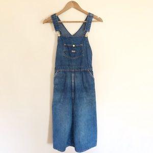 Vintage Madewell Denim Overall Dress